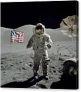 Apollo 17 Astronaut Stands Canvas Print