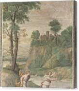 Apollo Pursuing Daphne Canvas Print