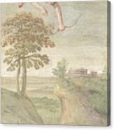 Apollo Slaying Coronis Canvas Print