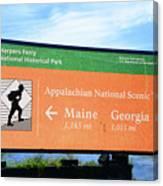 Appalachian National Scenic Trail Canvas Print