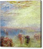 Approach To Venice Canvas Print