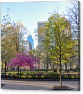 April In Rittenhouse Square Canvas Print