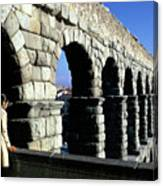 Aquaduct In Lisbon Canvas Print