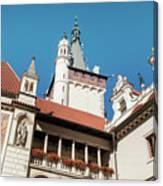 Architecture Details Of Pruhonice Castle Canvas Print