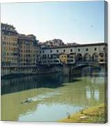 Arno River In Florence Italy Canvas Print