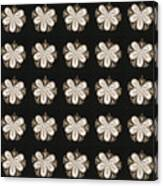 Artistic Sparkle Floral Black And White Graphic Art Very Elegant One Of A Kind Work That Will Show G Canvas Print