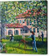 Artists On Location Canvas Print