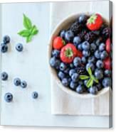 Assortment Of Berries Canvas Print