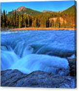 Athabasca Falls In Jasper National Park Canvas Print