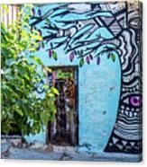 Athens Graffiti Canvas Print