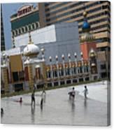 Atlantic City Hotels Board Walks Beaches Entertainment Centres Tajmahal Hotel Americas Best Photogra Canvas Print
