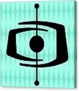 Atomic Shape 1 On Aqua Canvas Print