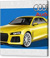 Audi Sport Quattro Concept With 3 D Badge  Canvas Print