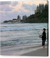 Australia - Fisherman At Greenmount Beach Canvas Print