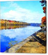Autumn Afternoon On The Schuykill River Canvas Print