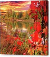 Autumn Garlands Canvas Print