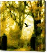 Autumn Graveyard Canvas Print