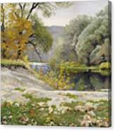 Autumn Landscape In The Vicinity Of Eshar Canvas Print