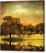 Autumns Golden Mirror Canvas Print