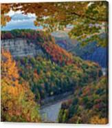 Autumn On The Genesee II Canvas Print