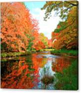 Autumn On The Mersey River, Kejimkujik National Park, Nova Scotia, Canada Canvas Print