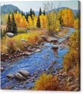 Autumn On The Truckee Canvas Print