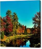 Autumn Splendor On The Moose River Canvas Print
