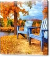 Autumn Splendor Watercolor Canvas Print