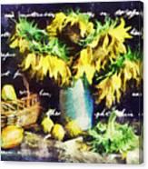 Autumn Sunflowers Canvas Print
