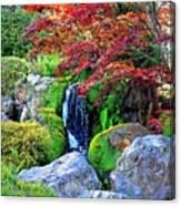Autumn Waterfall - Digital Art 5x3 Canvas Print