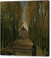 Avenue Of Poplars In Autumn Nuenen, October 1884 Vincent Van Gogh 1853 - 1890 Canvas Print