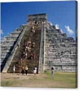Aztec Pyramid In Mexico Canvas Print
