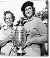 Patty Berg And Babe Didrikson Canvas Print