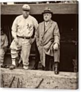 Babe Ruth And John Mcgraw Canvas Print
