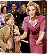 Babes In Arms, From Left Mickey Rooney Canvas Print