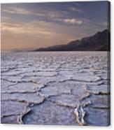 Badwater Salt Flats 1 Canvas Print