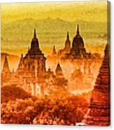 Bagan Pagodas Canvas Print