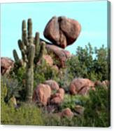Balancing Act In The Arizona Desert 2 Canvas Print