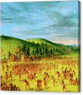 Ball-play Of The Choctaw--ball Up Canvas Print