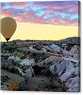 Ballooning At Sunrise No 2 Canvas Print
