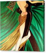 Ballroom Dancers Champagne Tango Canvas Print