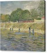 Bank Of The Seine Paris, May - July 1887 Vincent Van Gogh 1853 - 1890 Canvas Print