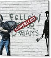 Banksy - The Tribute - Follow Your Dreams - Steve Jobs Canvas Print