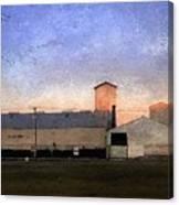 Barn At Sunrise Canvas Print