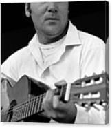 Barry Sadler With Guitar 3 Tucson Arizona 1971 Canvas Print