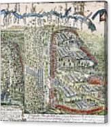 Battle Of Lake George, 1755 Canvas Print