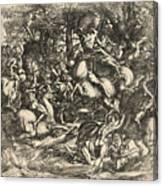 Battle Of Nude Men Canvas Print