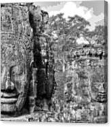 Bayon Faces  Canvas Print