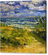 Beach At Delray Canvas Print