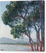 Beach Of Juan Les Pins Canvas Print